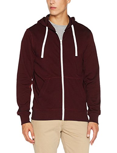 JACK & JONES Herren Sweatjacke Jorholmen Sweat Zip Hood Noos, Rot (Port Royale Fit:Reg Fit), Medium