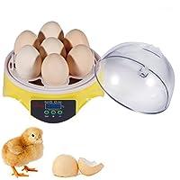 Incubadora de huevos automática Digital, aparato footprintse couveuses Mini de huevos, incubateur 7 capacidad amarillo y plástico transparente Durable