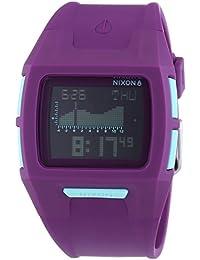 Nixon A364230-00 - Reloj de cuarzo unisex, correa de plástico color morado