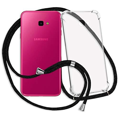 mtb more energy® Handykette für Samsung Galaxy J4 Plus | J4+ 2018 (SM-J415, 6.0'') | schwarz | Smartphone Hülle zum Umhängen | Anti Shock Strong TPU Case