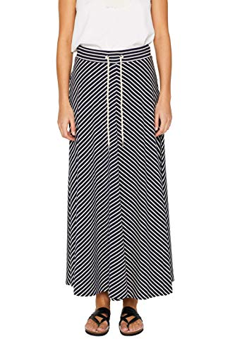 ESPRIT Damen 049EE1D003 Rock, Blau (Navy 400), Medium (Herstellergröße: M) - Jersey Maxi-rock