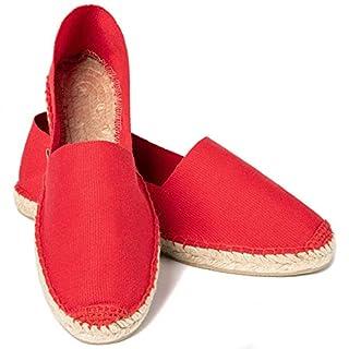 ESPADELLE Damen Slip-on Espadrilles aus Baumwolle mit Schuhbeutel, Chili, 39 | Handmade in Spain