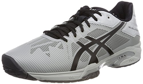 Asics Gel-Solution Speed 3, Zapatillas de Tenis para Hombre, Multicolor (Mid Gr E y Black), 44.5 EU