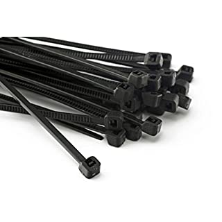 Pack of 100 Cable Ties 200 MM x 2.5 MM for Fence Shade Fence Cover Black