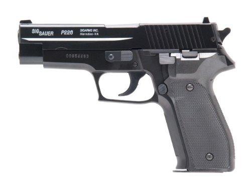 g8ds Set: Sig Sauer P226 H.P.A. Metalslide Softair Pistole unter 0,5 Joule 6mm NEUHEIT 2014 Zielscheibe