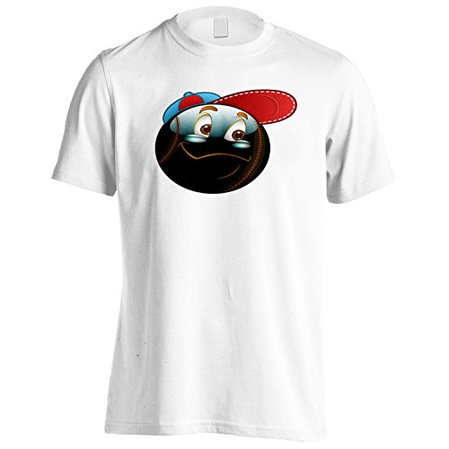 Smiley Cool mit Kappe Gesicht Neuheit Funny Vintage Art Herren T-Shirt a310m (Cool Gesicht, T-shirt Funny)