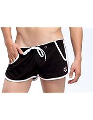Demarkt Pantalon Court de Sport/ Short de Bain/ Sou-vetement pour Hommes - Noir- Taille S/M/L