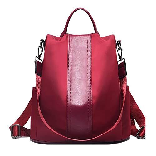 Damen Rucksack Handtaschen Nylon Daypack Umhängetasche Reiserucksack Schulrucksack Backpack Schultertasche PU Leder Anti Diebstahl Tasche für Schule Reise Arbeit Wild Umhängetasche Wasserdich