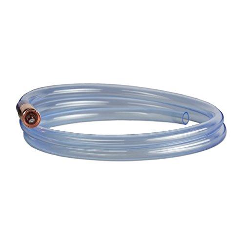 Relaxdays Pumpschlauch 187 cm Länge, Schüttelpumpe zum Umfüllen von Flüssigkeiten, manuelle Handpumpe, transparent -
