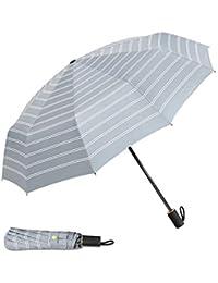 DORRISO Raya Plegables Paraguas Portátil Compacto Resistente al Viento Impermeable Durable Ligero Cómodo Viaje Negocios Mujer