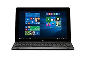 Medion S1219T HD Display 25,7 cm (10,1 Zoll) 2-in-1 Windows-Tablet mit Keyboard-Dock (Intel Atom Z3735F, 2GB RAM, 64GB HDD, Win 10 Home Touchscreen) anthrazite