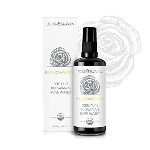Alteya Bio Rosenwasser Spray in Glasflasche 100ml– 100% USDA Organic-zertifiziert Authentisch...