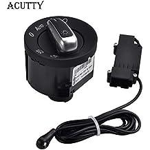 Acutty Interruptor de la luz del coche con la luz del sensor automático de cromo 5ND941431B