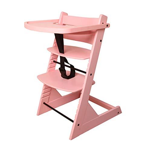Multifonctionnel Chaise Haute en Bois Chaise de Salle à Manger | Tabouret bébé adapté Enfant/Cadeau | Manger des sièges Convient aux 0-4 Ans