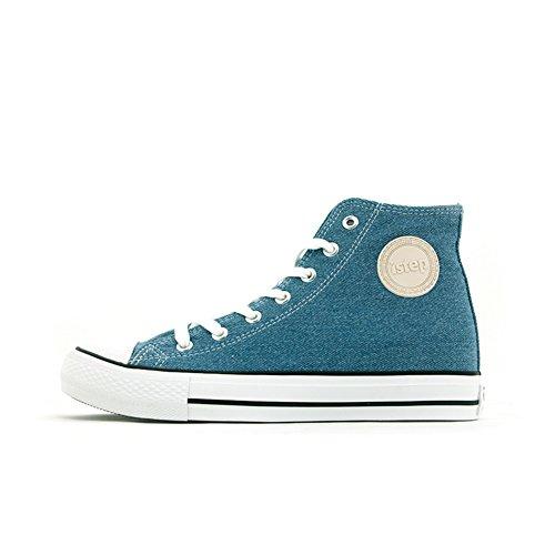 Ciao scarpe di tela in autunno/Scarpe alte/Scarpe casual studente-D Lunghezza piede=23.8CM(9.4Inch)