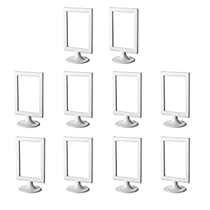 IKEA Tolsby 301.510.35 Double-Sided Photo Frame or Table Number Holder Pack of 10 Colours White