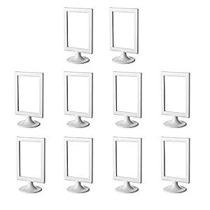 """IKEA 301.510.35 Bilderrahmen oder Tischnummernhalter """"Tolsby"""", für 2 Bilder, 10 Stück, Farbe weiß"""
