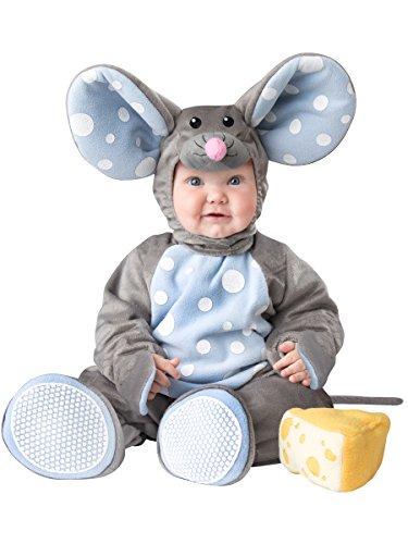 Maus Kostüm Baby - Generique - Graues Deluxe Maus-Kostüm für Babys 74/80 (12-18 Monate)