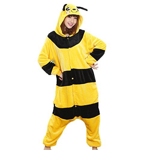 Imagen de z chen disfraz de pijama animales para unisex adulto, abeja, xl altura 180 190cm