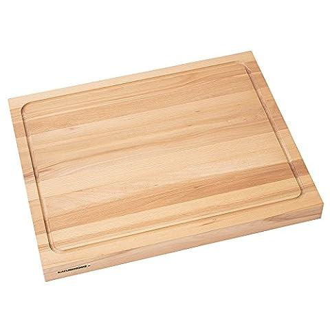 Evier Inox 1 5 Bacs - NATUREHOME Planche à découper en bois massif