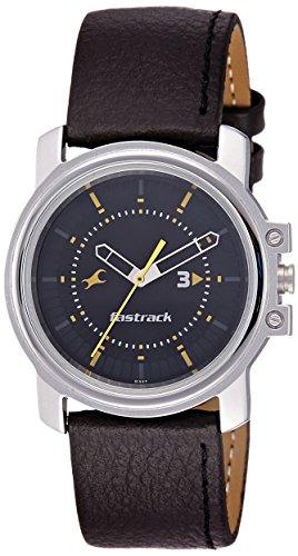 Fastrack Economy Analog Black Dial Men's Watch - NE3039SL02