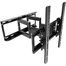 RICOO Soporte de pared para TV S1144 brazo giro y inclinación para televisores 76 - 140 cm (30' - 32' - 42' - 47' - 50' - 55' - 65' pulgadas) LCD LED soportes VESA max. 400x400 universal adecuado para todo telev