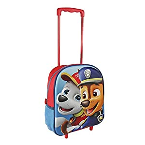 Paw Patrol 2100001948 Chase and Marshall Travel Trolley with 31 cm 3D Junior Backpack by Paw Patrol