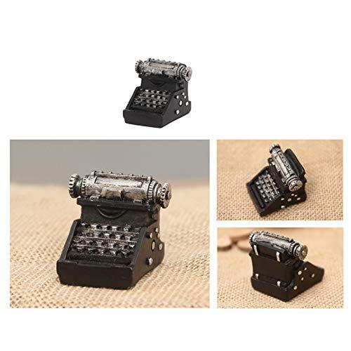 LISRUI antike Schreibmaschine Modell, Harz Ornamente für Cafe Shop Store Desktop Home Decor, kreative Ornamente Geschenke für Büro