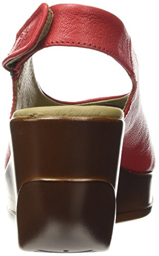 FLY London Hatt 680, Sandales Femme Rouge (Mousse Red)