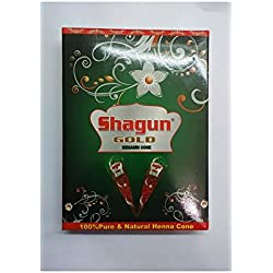 Shagun Gold Natural Mehendi Cone, 360 Grams (Pack Of 12 cones)