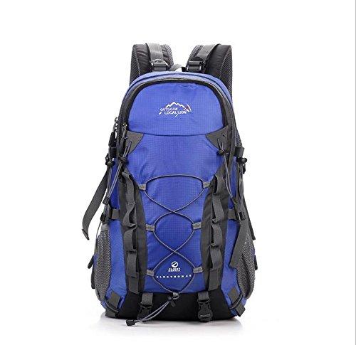 BM Outdoor Bergsteigen Tasche 40L groß Kapazität Rucksack Walk für Männer und Frauen blau