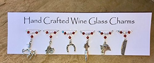 wine-glass-charms-horse-themed-charms-equestrian-gifts