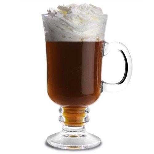 bar@drinkstuff City - Vasos para café irlandés, 250ml, 4tazas, t