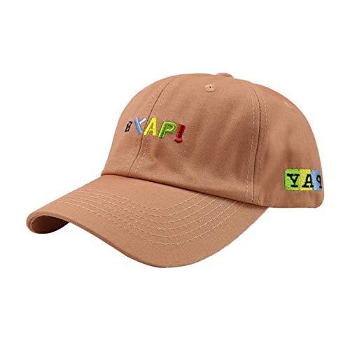 zhuzhuwen Hut Farbe Stickerei Brief Cap Männer und Frauen Soft Top Farbe passenden Paar grüne Baseball Cap 5 56-60cm einstellbar (Hundefutter Marmeladen)