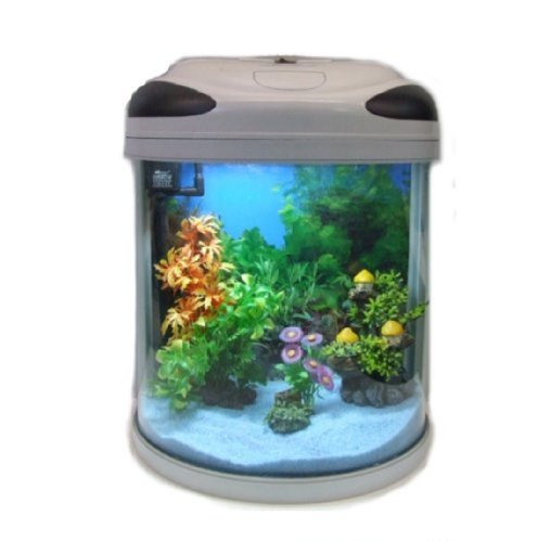 Aquarline Seastar HX 500 Aquarium Kit Complete with Lighting and Filter System 55 Litre, Silver