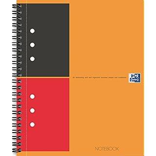Oxford 100104036 - International Notebook, A4+, liniert, 80 Blatt, stabiler Kartondeckel, orange