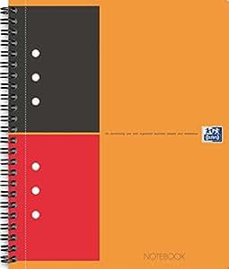 OXFORD 100104036 Notebook International A4+ liniert 80 Blatt stabiler Kartondeckel orange Spiralblock Collegeblock - clevere Organisation für Manager und Führungskräfte