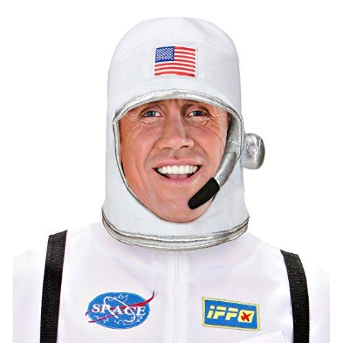 NET TOYS Astronauten Helm USA Astronautenhelm US Raumfahrerhelm NASA Weltraumhelm Raumfahrer Kopfbedeckung Space Kostüm Accessoire Karnevalskostüme Amerika