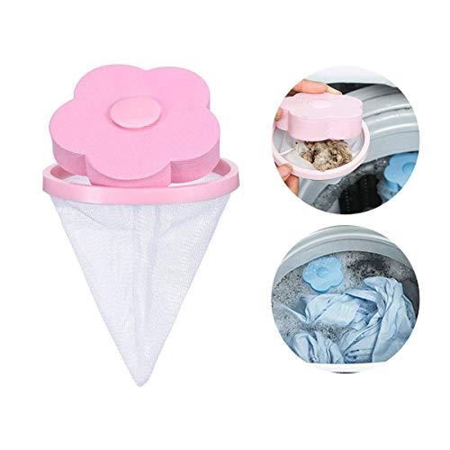 AOLVO Waschmaschine Floating Fusseln Fallen Mesh Tasche Haar Filter Net Puch, flower-type Laundry Mesh Staub Fusseln Waschmaschine Socke Filter, tragbar Haarsieb Haarentfernung Wäsche Ball