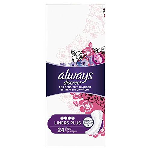 Always Discreet Inkontinenz Slipeinlagen Plus bei Blasenschwäche, 2er Pack (2 x 24 Stück)
