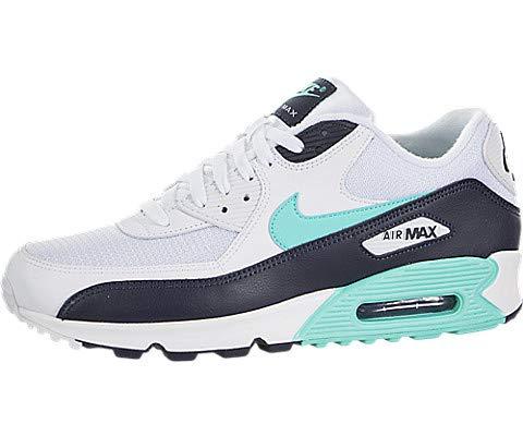Nike Herren Air Max 90 Essential Fitnessschuhe, Mehrfarbig (White/Aurora Green/Obsidian 102), 41 EU