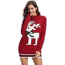 più recente 0bd10 e26a0 Amazon.it: maglione natalizio donna - Rosso