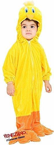 Fancy Me Italienischer Kleinkind Baby Jungen Mädchen gelb Karton Kanarienvogel Vogel Karneval Verkleidung Kostüm Kleidung 12-36 Monate - Gelb, 3 (Kleinkind Junge Vogel Kostüm)