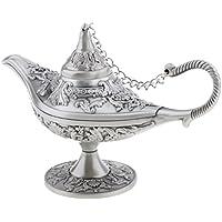 Gazechimp Vintage Organizador de Joyas Diseño de Lámpara de Tetera de Té Árabe Decoración de Mesa