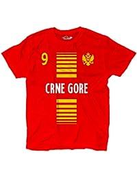 Camiseta T-shirt hombre nacional deporte Montenegro Crna Gora 9 futbol deporte Europe Aquila 1