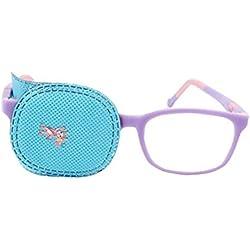 6pcs Bleu Amblyopie Eye patches pour enfants Lunettes Eye Patch pour traiter Strabisme Lazy Eye Patch pour enfant Unisexe