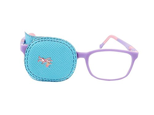 erioctry 6 Eye Patch-Amblyopia Eye Patches für Kinder zu behandeln Amblyopie Schielen, Lazy Eye Patch Sehschärfe Recovery für Kinder blau