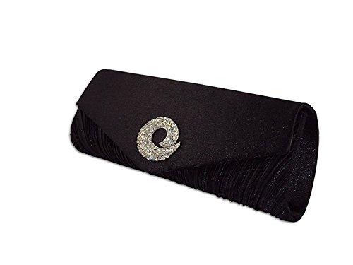 XPGG Damen Party Clutch Hardcase Abendtasche Synthetik 012 schwarz