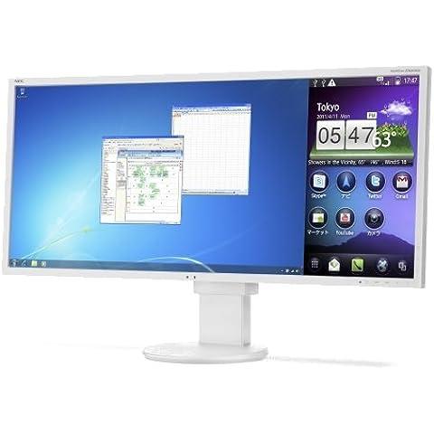 NEC MultiSync EA294WMi 29 Color blanco - Monitor (2560 x 1080 Pixeles, LED, IPS, 1280 x 960, 2560 x 1080, 1024 x 768 (XGA), 1152 x 864 (XGA+), 1280 x 1024 (SXGA), 1280 x 768 (WXGA),, 1000:1,