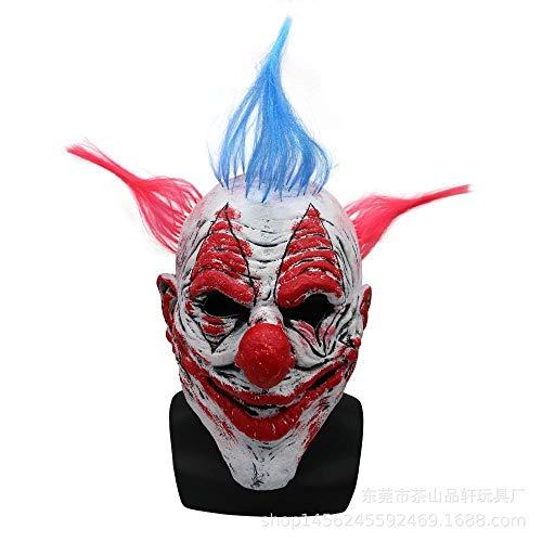QJKai Halloween Clown Maske Latex Requisiten Scary Masquerade Männer und Frauen Kopfbedeckungen